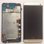 HTC One M7 801n LCD Display Touchscreen mit Rahmen komplett Neu